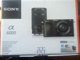 Sony A6000 Camera New and Sealed in box double lens kit