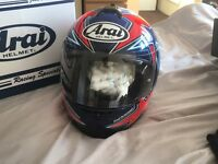 Arai axces ll asteroid red XL helmet (new)