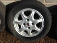 Set of 4 Rover 15 inch 600/800 alloy wheels with tyres