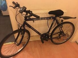 Bicycle with new tyre tubes . Good condition , with few accessories
