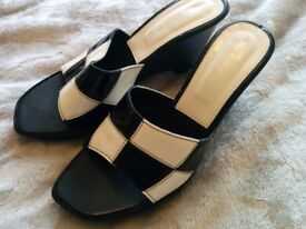 A lovely Pair of Next black and white healed shoes size 36eu - 3.5uk