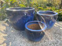 Garden Plant Pots X3
