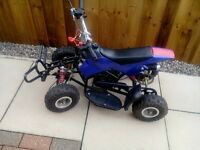 Kids Petrol Quad 49CC in Blue.