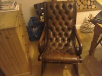 Lovely leather chesterfield vintage chair