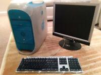 Apple Mac Blue and White (B&W) G3 PowerPC 1997, Korg 1212 i/o,Powerlogix Processor,monitor,keyboard