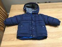 GAP blue 12-18 months old winter coat