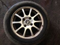 Volvo S40/V40 15 inch alloy wheels with nearly new tyres set of 4 very good condition