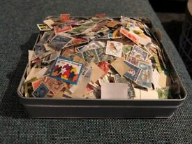 Mixed Tin of Stamps - Worldwide - Unsorted