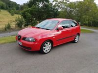 2005 Seat Ibiza 1.4 16v Sport with full service history and very clean