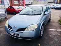 NISSAN PRIMERA AUTOMATIC SX PETROL5 DOORS HATCHBACK BLUE LOW MILEAGE 75K