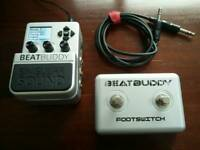 Singular Sound BeatBuddy Drum Machine Pedal, with additional footswitch and MIDI cable