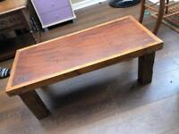 Heavy wood coffee fable/ tv stand