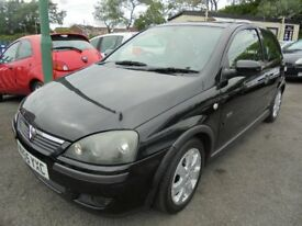 Vauxhall Corsa SXI+ 16v Twinport 2006, Black, MOT March 2019 Issued With No Advisories