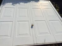 White up & over garage door £50