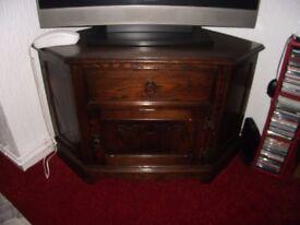 TV corner unit solid wood