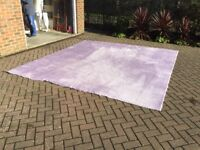 Lilac Carpet With Underlay : Good Condition : Bargain