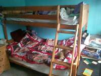 bunkbeds for sale single on top 3/4 on bottom