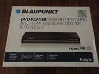 BRAND NEW Blaupunkt DVD Player With Hd Upscaling & Hdmi & Scart output BP-DVDHS1 for just £19.99