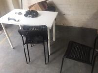 Used Black IKEA ADDE Chairs