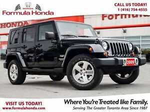 2009 Jeep WRANGLER UNLIMITED SAHARA | ALL WHEEL DRIVE | LOW KM!