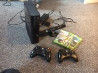 Xbox 360 console plus connect sensor and 2 conntrollers