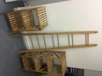 Real Bamboo Storage Collection + Bamboo Ladder Shelf