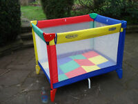 Childes folding travel cot or play pen.