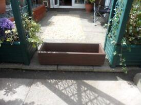 New wooden garden planters