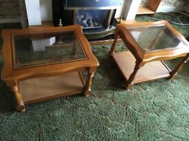 2 Solid Wood Coffee Tables