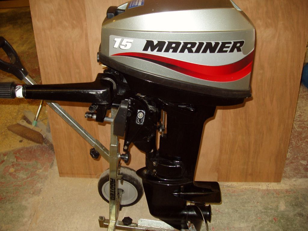 Mercury mariner 15hp outboard motor inflatable boat dinghy for 15 hp electric boat motor