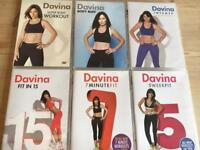6 x Davina McCall workout DVDs