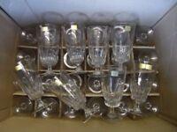 Brand New French Lead Cut Luminarc Blanc VAP Lancier A Biere Glasses