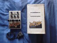 Electro Harmonix Wiggler Tube Vibrato/Tremolo Guitar Pedal w/ Adapter + Box