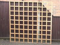 Two large treated trellis panels 6ft x 6ft. Good condition.