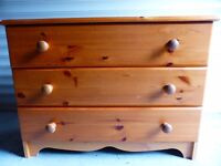 3 drawer chest, ideal for kids bedroom
