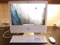 Apple Mac desktop computer & keyboard