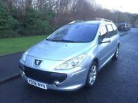Peugeot 307 SW 1.6 HDi SE 5dr LONG MOT , LOW TAX , 60 MPG