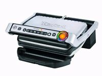 Tefal OptiGrill with Automatic Thickness and Temperature Measurement, 2000 W - Silver