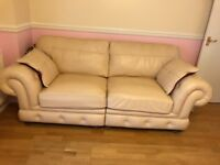 Cream leather sofas Ipswich