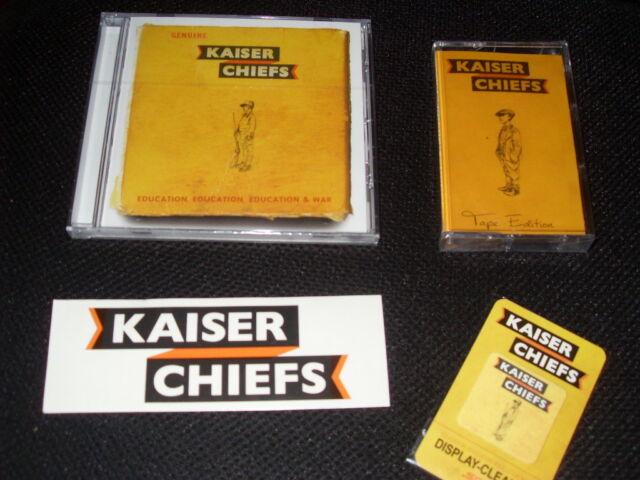 Kaiser Chiefs - Education,Education,Education & War - Aufkleber + CD + MC - NEU