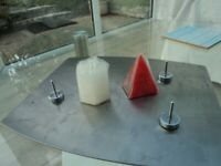 A QUALITY STAINLESS STEEL CANDLE HOLDER - Christmas.