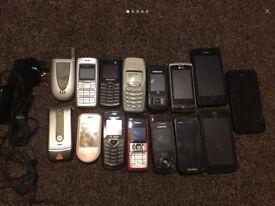 Large bundle 15 mobile phones Nokia, samsung