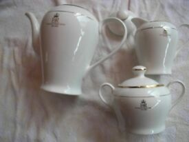 Queens Golden Jubilee comemorative Teapot, Milk Jug and Sugar Bowl with Cover