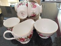 Incomplete Queen Anne Bone China Tea Set