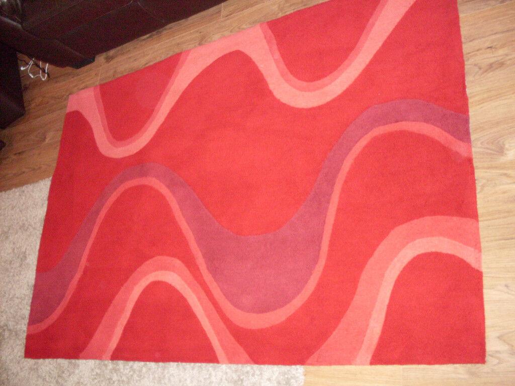 SOHO RED RUG 6FT X 4FT