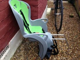 Child Bike Seat - UNUSED - Hamax Kiss Grey / Green