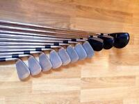 Mizuno golf club set . 8 irons 3 drivers