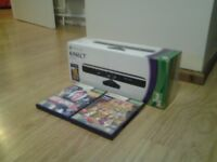 Black Xbox 360 Kinect + 2 games