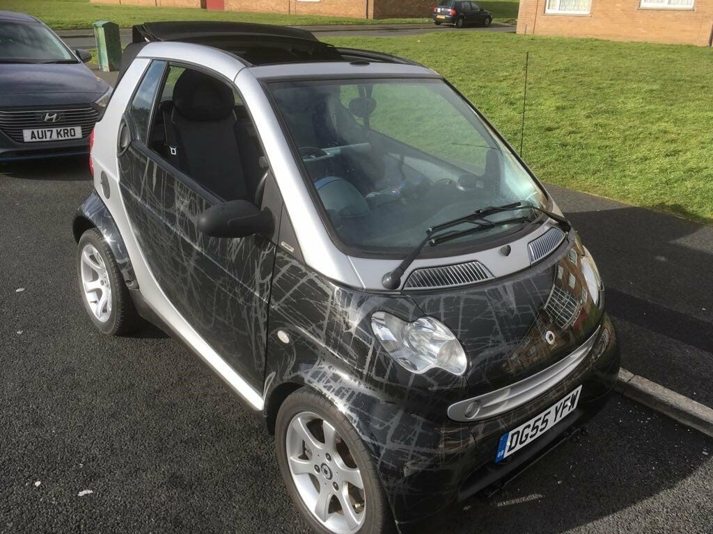Smart car cabriolet 55 plate low mileage complete with braked towing ...