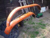 two twin wheeler metal trailer mudgards vgc